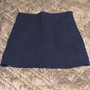 Navy Forever21 Skirt